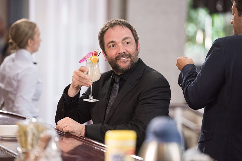 "Supernatural -- ""The Foundry"" -- SN1203a_0113.jpg -- Pictured: Mark Sheppard as Crowley -- Photo: Dean Buscher/The CW -- © 2016 The CW Network, LLC. All Rights Reserved"
