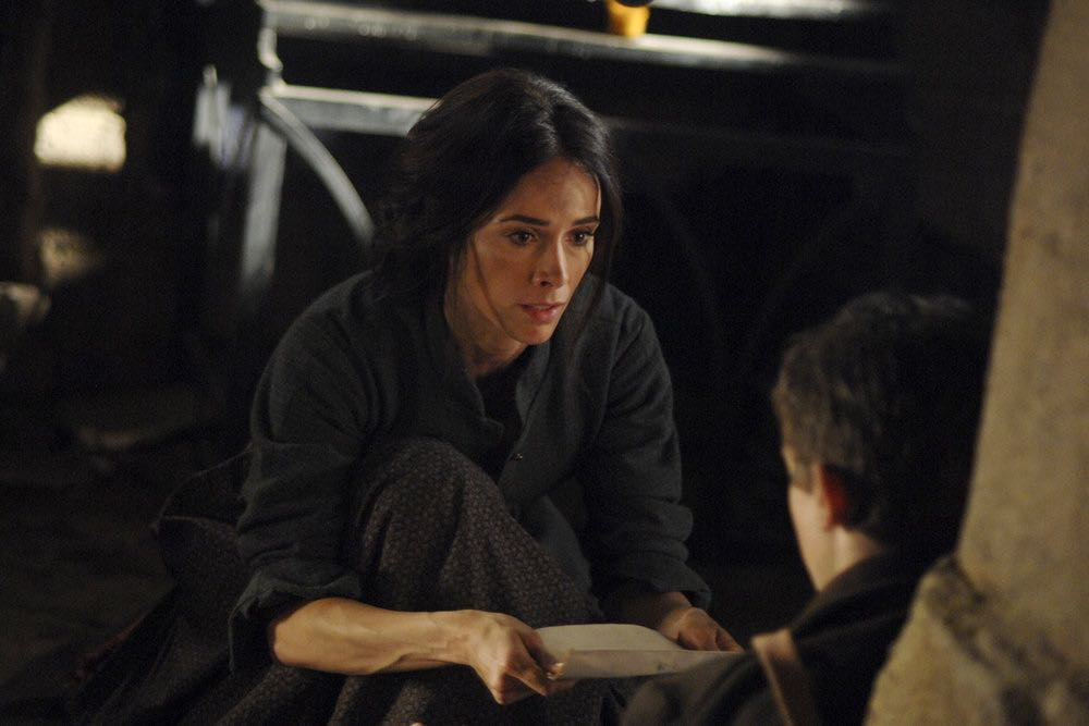 "TIMELESS -- ""The Alamo"" Episode 104 -- Pictured: Abigail Spencer as Lucy Preston -- (Photo by: Sergei Bachlakov/NBC)"