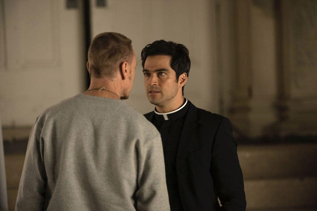 "THE EXORCIST: L-R: Ben Daniels and Alfonso Herrera in the ""Chapter Six: Star of the Morning"" episode of THE EXORCIST airing Friday, Nov. 4 (9:01-10:00 PM ET/PT) on FOX. ©2016 Fox Broadcasting Co. Cr: Jean Whiteside/FOX"