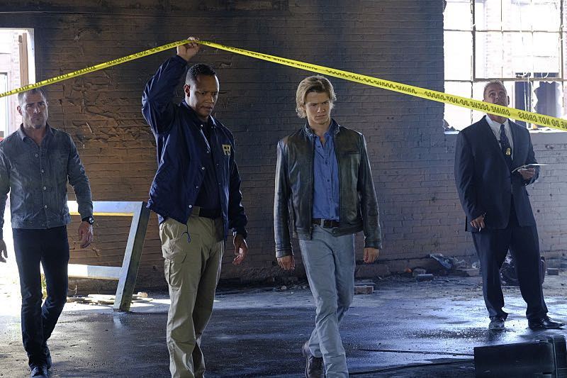 """Wrench"" -- Using only a wrench and rope, MacGyver must diffuse a bomb set near the United Nations by his old nemesis, ""The Ghost"" (Niko Nicotera), a notorious criminal whose work killed his mentor, and track him down before he strikes again, on MACGYVER, Friday, Oct. 28 (8:00-9:00 PM, ET/PT) on the CBS Television Network. Pictured: George Eads, Lucas Till. Photo: Guy D'Alema/CBS ©2016 CBS Broadcasting, Inc. All Rights Reserved"