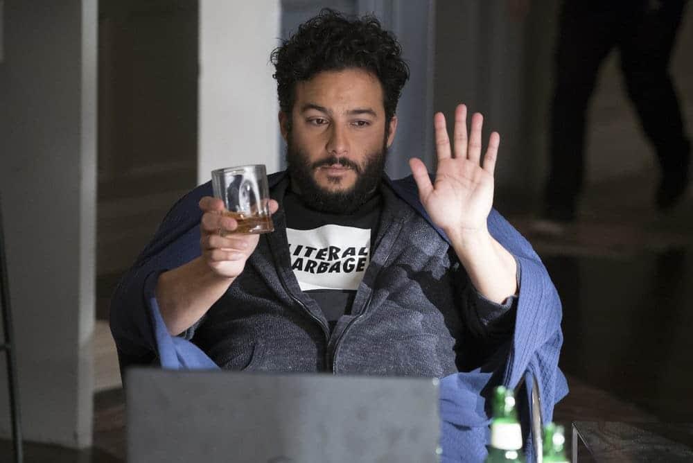 "BLINDSPOT -- ""Resolves Eleven Myths"" Episode 207 -- Pictured: Ennis Esmer as RichDot Com -- (Photo by: Virginia Sherwood/NBC)"