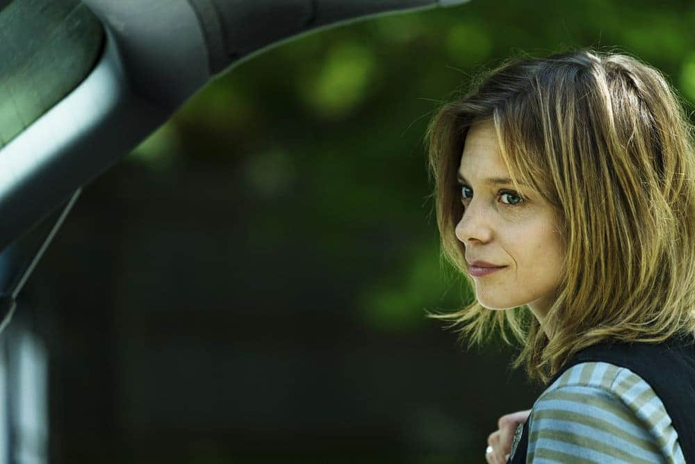 "FALLING WATER -- ""Monsters, Most Familiar"" Episode 103 -- Pictured: Lizzie Brochere as Tess -- (Photo by: Michael Parmalee/USA Network)"