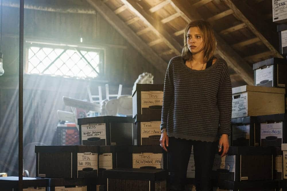 """FALLING WATER -- """"Monsters, Most Familiar"""" Episode 103 -- Pictured: Lizzie Brochere as Tess -- (Photo by: Michael Parmalee/USA Network)"""