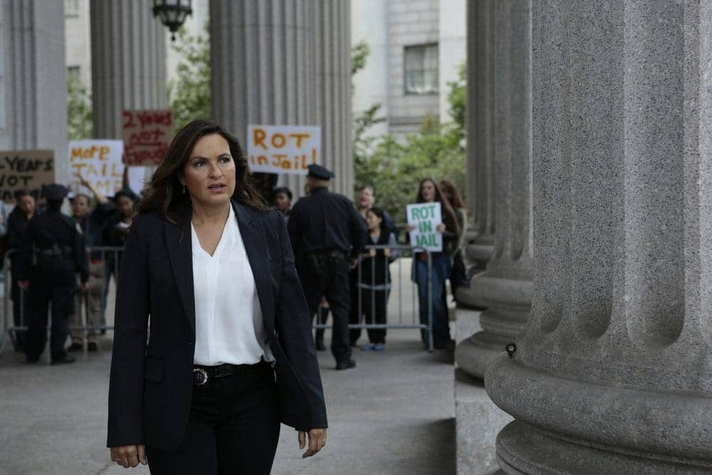 """LAW & ORDER: SPECIAL VICTIMS UNIT -- """"Rape Interrupted"""" Episode 1806 -- Pictured: Mariska Hargitay as Olivia Benson -- (Photo by: Michael Parmelee/NBC)"""