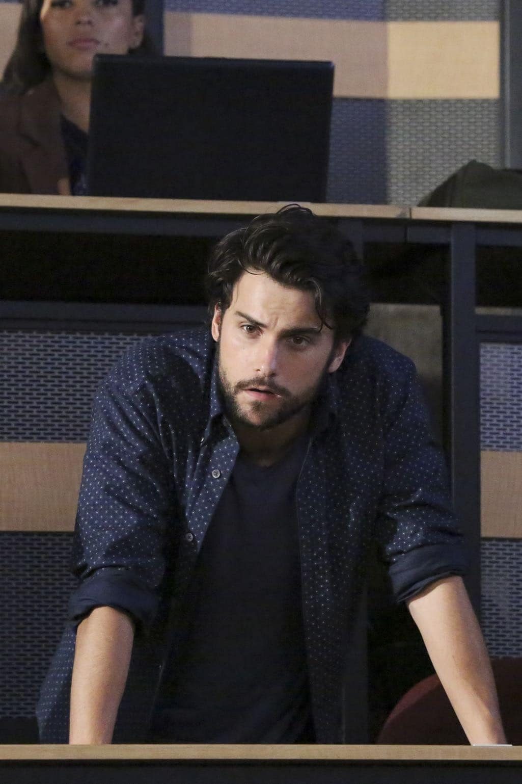 """HOW TO GET AWAY WITH MURDER - """"Is Someone Really Dead?"""" - A revelation in the Wallace Mahoney murder rattles Annalise and the Keating 5, as the team takes on the case of a veteran facing assault charges, on """"How to Get Away with Murder,"""" THURSDAY, OCTOBER 27 (10:00-11:00 p.m. EDT), on the ABC Television Network. (ABC/Mitch Haaseth) JACK FALAHEE"""