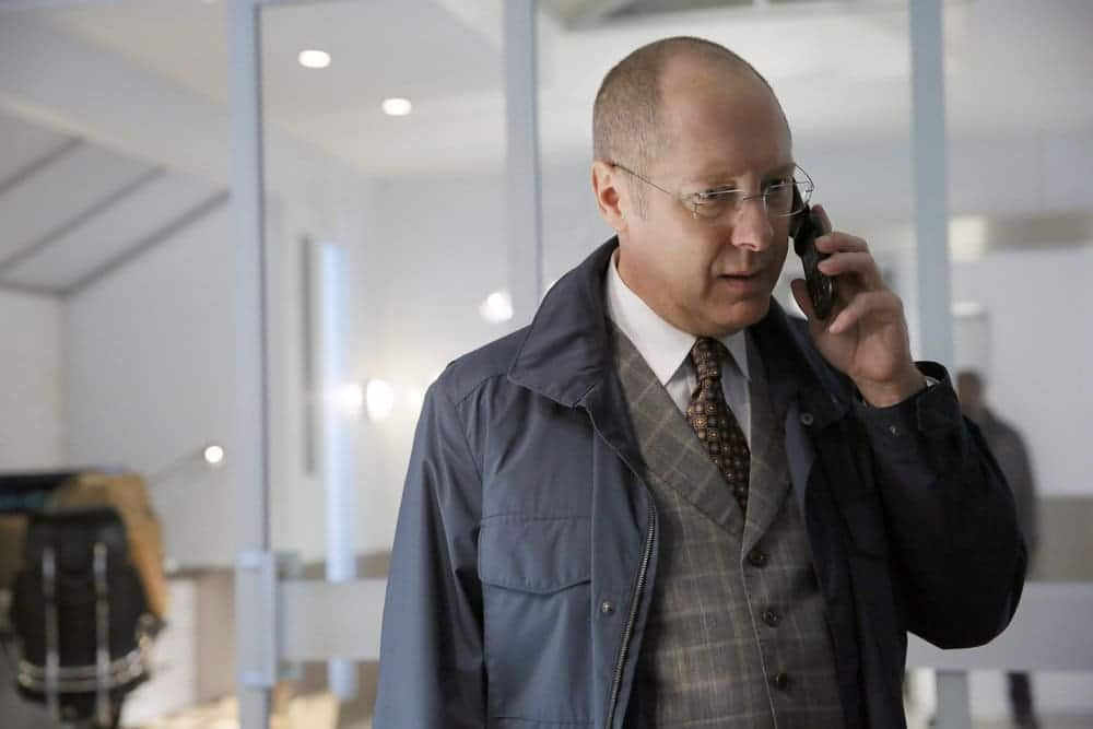 "THE BLACKLIST -- ""Dr. Jordan Shaw #98"" Episode 407 -- Pictured: James Spader as Raymond ""Red"" Reddington -- (Photo by: Will Hart/NBC)"