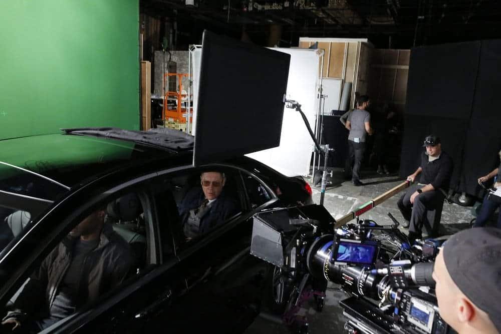 "THE BLACKLIST -- ""Dr. Jordan Shaw #98"" Episode 407 -- Pictured: (l-r) Hisham Tawfiq as Dembe Zuma, James Spader as Raymond ""Red"" Reddington -- (Photo by: Will Hart/NBC)"