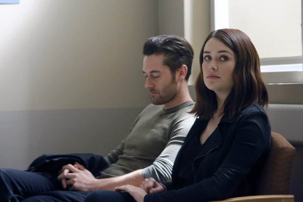 "THE BLACKLIST -- ""Dr. Jordan Shaw #98"" Episode 407 -- Pictured: (l-r) Ryan Eggold as Tom Keen, Megan Boone as Elizabeth Keen -- (Photo by: Will Hart/NBC)"