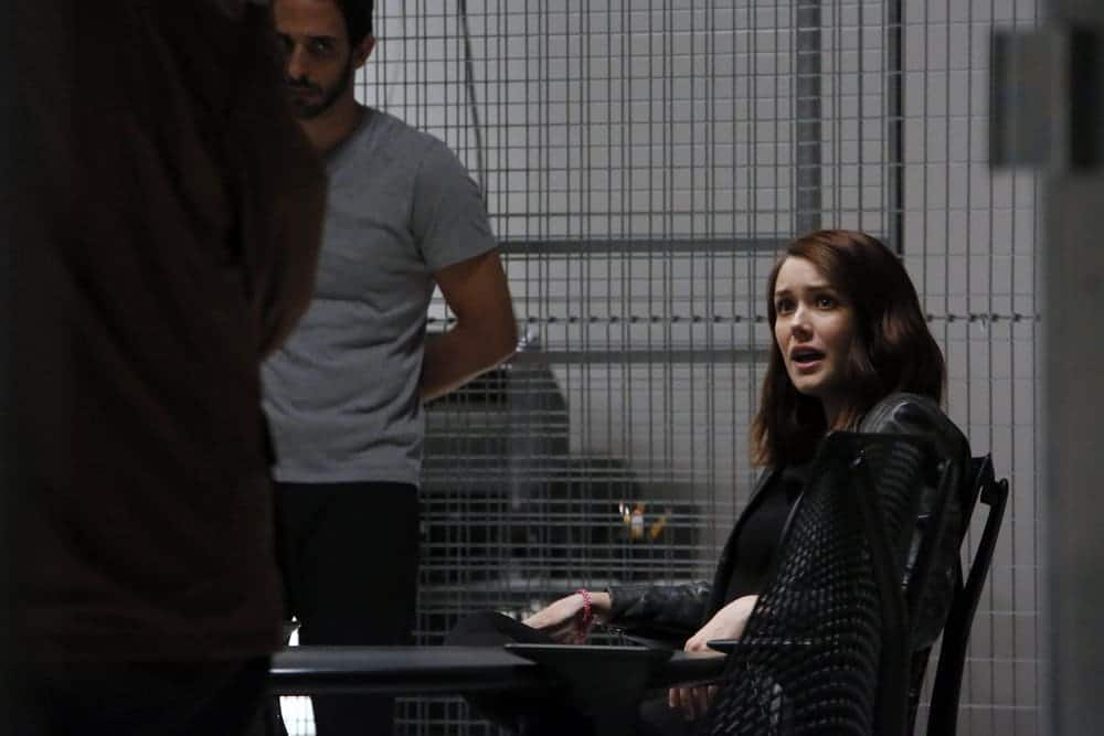 """THE BLACKLIST-- """"The Thrushes: #53"""" Episode 406 -- Pictured: (l-r) Amir Arison as Aram Mojtabai, Megan Boone as Elizabeth Keen -- (Photo by: Will Hart/NBC)"""