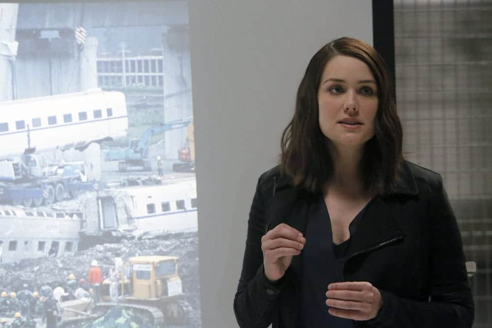 """THE BLACKLIST-- """"The Thrushes: #53"""" Episode 406 -- Pictured: Megan Boone as Elizabeth Keen -- (Photo by: Will Hart/NBC)"""