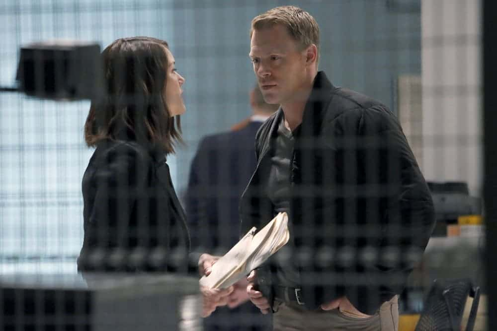 """THE BLACKLIST-- """"The Thrushes: #53"""" Episode 406 -- Pictured: (l-r) Megan Boone as Elizabeth Keen, Diego Klattenhoff as Donald Ressler -- (Photo by: Will Hart/NBC)"""