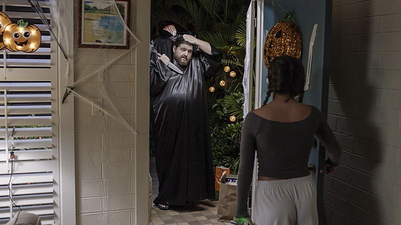 """Ka hale ho'okauweli"" -- On Halloween, Five-0 investigates the murder of a medium with a checkered past who was apparently scared to death by a poltergeist. Also, Kono and Adam are kidnapped by what appears to be a death cult, on HAWAII FIVE-0, Friday, Oct. 28 (9:00-10:00 PM, ET/PT), on the CBS Television Network. Pictured: Jorge Garcia as Jerry Ortega. Photo: CBS ©2016 CBS Broadcasting, Inc. All Rights Reserved"