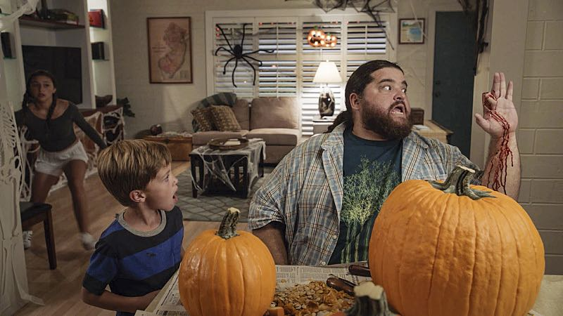 """""""Ka hale ho'okauweli"""" -- On Halloween, Five-0 investigates the murder of a medium with a checkered past who was apparently scared to death by a poltergeist. Also, Kono and Adam are kidnapped by what appears to be a death cult, on HAWAII FIVE-0, Friday, Oct. 28 (9:00-10:00 PM, ET/PT), on the CBS Television Network. Pictured left to right: Teilor Grubbs as Grace Williams, Zach Sulzbach as Charlie Williams and Jorge Garcia as Jerry Ortega. Photo: CBS ©2016 CBS Broadcasting, Inc. All Rights Reserved"""