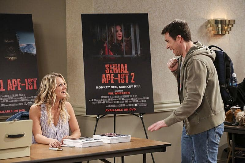 """The Fetal Kick Catalyst"" -- Pictured: Penny (Kaley Cuoco). Penny is surprised to learn she has fans of her performance in ""Serial Ape-ist"" when she attends Van Nuys Comic Con with Leonard. Also, Amy hosts a Sheldon-style brunch at Penny's apartment and Wolowitz makes an impulsive purchase when he starts stressing out about the baby on the way, when THE BIG BANG THEORY moves to its regular time period, Thursday, Oct. 27 (8:00-8:31 PM, ET/PT), on the CBS Television Network. Photo: Michael Yarish/Warner Bros. Entertainment Inc. © 2016 WBEI. All rights reserved."