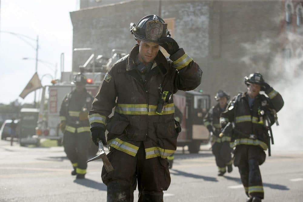 "CHICAGO FIRE -- ""Scorched Earth"" Episode 503 -- Pictured: Jesse Spencer as Matthew Casey -- (Photo by: Parrish Lewis/NBC)"