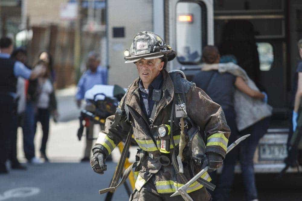 "CHICAGO FIRE -- ""Scorched Earth"" Episode 503 -- Pictured: David Eigenberg as Christopher Hermann -- (Photo by: Parrish Lewis/NBC)"