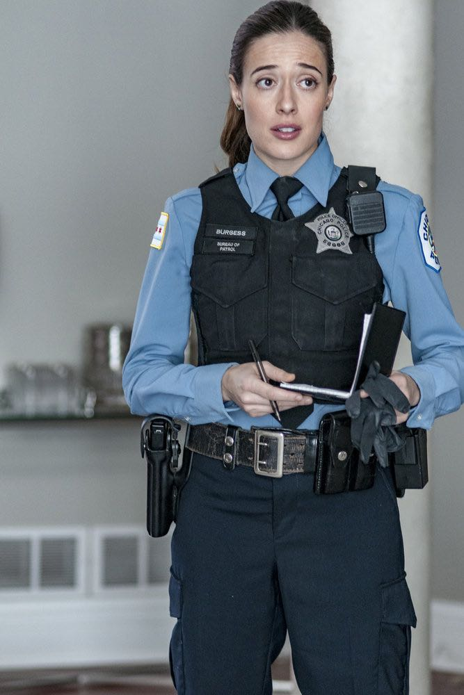 "CHICAGO P.D. -- ""Skin in the Game"" Episode 406 -- Pictured: Marina Squerciati as Kim Burgess -- (Photo by: Matt Dinerstein/NBC)"