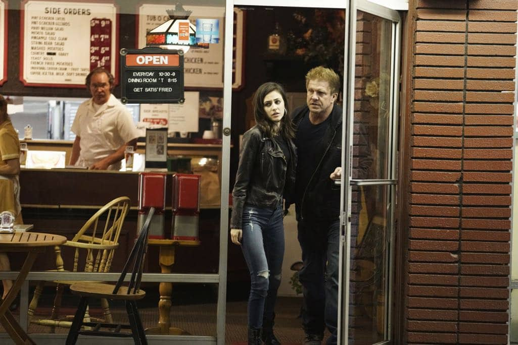 "SECRETS AND LIES - ""The Detective"" - Eric discovers that he and Danny have more in common than he first believed. The two get closer to finding Liam, but they aren't the only ones who have been hot on his trail. At work, things begin to unravel when Patrick fails to cover for Eric at a big meeting and then gets swept up in Detective Cornell's web of interrogation. And just when Eric begins to get some answers, he is confronted by a huge betrayal, leaving him speechless, on ""Secrets and Lies,"" SUNDAY, OCTOBER 23 (9:00-10:00 p.m. EDT), on the ABC Television Network. (ABC/Michael Desmond) REMY NOZIK, KENNY JOHNSON"