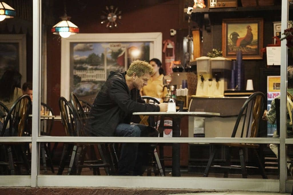 """SECRETS AND LIES - """"The Detective"""" - Eric discovers that he and Danny have more in common than he first believed. The two get closer to finding Liam, but they aren't the only ones who have been hot on his trail. At work, things begin to unravel when Patrick fails to cover for Eric at a big meeting and then gets swept up in Detective Cornell's web of interrogation. And just when Eric begins to get some answers, he is confronted by a huge betrayal, leaving him speechless, on """"Secrets and Lies,"""" SUNDAY, OCTOBER 23 (9:00-10:00 p.m. EDT), on the ABC Television Network. (ABC/Michael Desmond) KENNY JOHNSON"""