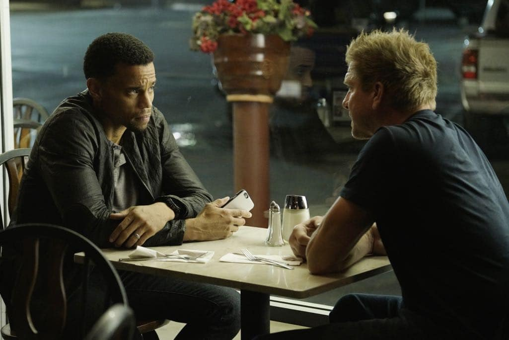 "SECRETS AND LIES - ""The Detective"" - Eric discovers that he and Danny have more in common than he first believed. The two get closer to finding Liam, but they aren't the only ones who have been hot on his trail. At work, things begin to unravel when Patrick fails to cover for Eric at a big meeting and then gets swept up in Detective Cornell's web of interrogation. And just when Eric begins to get some answers, he is confronted by a huge betrayal, leaving him speechless, on ""Secrets and Lies,"" SUNDAY, OCTOBER 23 (9:00-10:00 p.m. EDT), on the ABC Television Network. (ABC/Michael Desmond) MICHAEL EALY, KENNY JOHNSON"