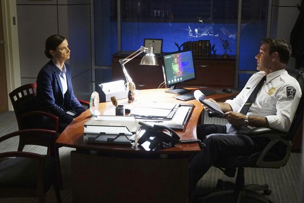 "SECRETS AND LIES - ""The Detective"" - Eric discovers that he and Danny have more in common than he first believed. The two get closer to finding Liam, but they aren't the only ones who have been hot on his trail. At work, things begin to unravel when Patrick fails to cover for Eric at a big meeting and then gets swept up in Detective Cornell's web of interrogation. And just when Eric begins to get some answers, he is confronted by a huge betrayal, leaving him speechless, on ""Secrets and Lies,"" SUNDAY, OCTOBER 23 (9:00-10:00 p.m. EDT), on the ABC Television Network. (ABC/Richard Cartwright) JULIETTE LEWIS, DAVID JAMES ELLIOTT"
