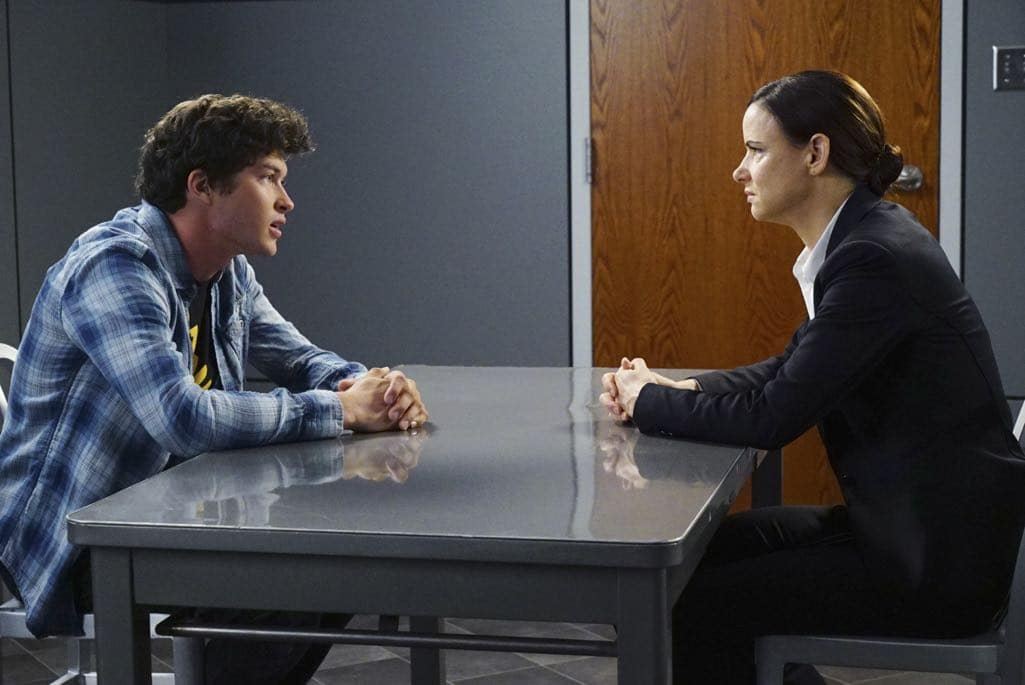 "SECRETS AND LIES - ""The Detective"" - Eric discovers that he and Danny have more in common than he first believed. The two get closer to finding Liam, but they aren't the only ones who have been hot on his trail. At work, things begin to unravel when Patrick fails to cover for Eric at a big meeting and then gets swept up in Detective Cornell's web of interrogation. And just when Eric begins to get some answers, he is confronted by a huge betrayal, leaving him speechless, on ""Secrets and Lies,"" SUNDAY, OCTOBER 23 (9:00-10:00 p.m. EDT), on the ABC Television Network. (ABC/Richard Cartwright) GRAHAM PHILLIPS, JULIETTE LEWIS"