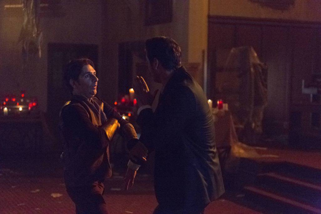 """LUCIFER: R-L: Tom Ellis and guest star Michael Imperioli in the """"Weaponizer"""" episode of LUCIFER airing Monday, Oct. 24 (9:01-10:00 PM ET/PT) on FOX. ©2016 Fox Broadcasting Co. Cr: Michael Courtney/FOX."""