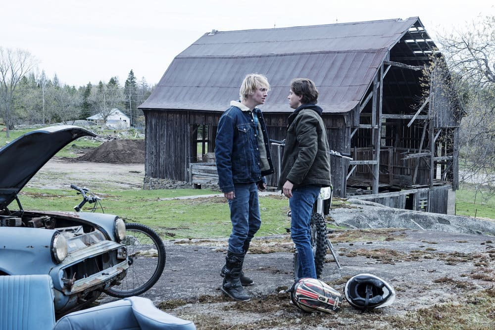 "EYEWITNESS -- ""Bless the Beast and the Children"" Episode 102 -- Pictured: James Paxton as Lukas Waldenbeck, Tyler Young as Philip Shea -- (Photo by: Christos Kalohoridis/USA Network)"
