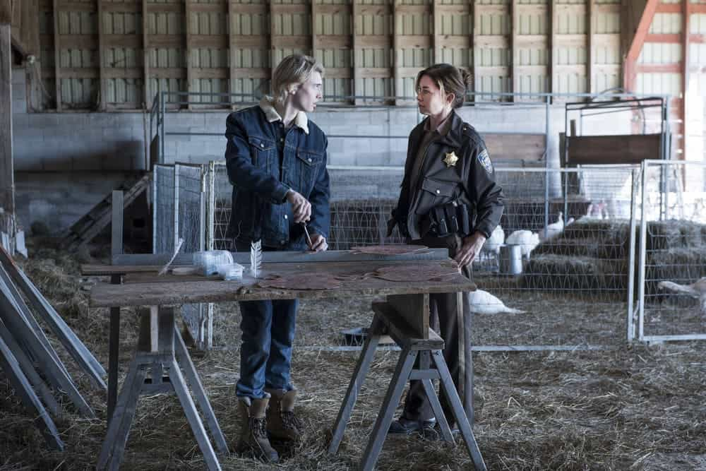 "EYEWITNESS -- ""Bless the Beast and the Children"" Episode 102 -- Pictured: (l-r) James Paxton as Lukas Waldenbeck, Julianne Nicholson as Helen Torrance -- (Photo by: Christos Kalohoridis/USA Network)"