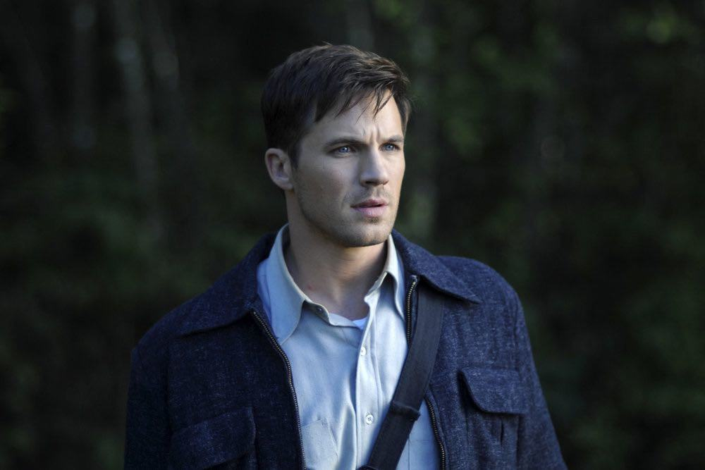 "TIMELESS -- ""Party At Castle Varlar"" Episode 103 -- Pictured: Matt Lanter as Wyatt Logan -- (Photo by: Sergei Bachlakov/NBC)"