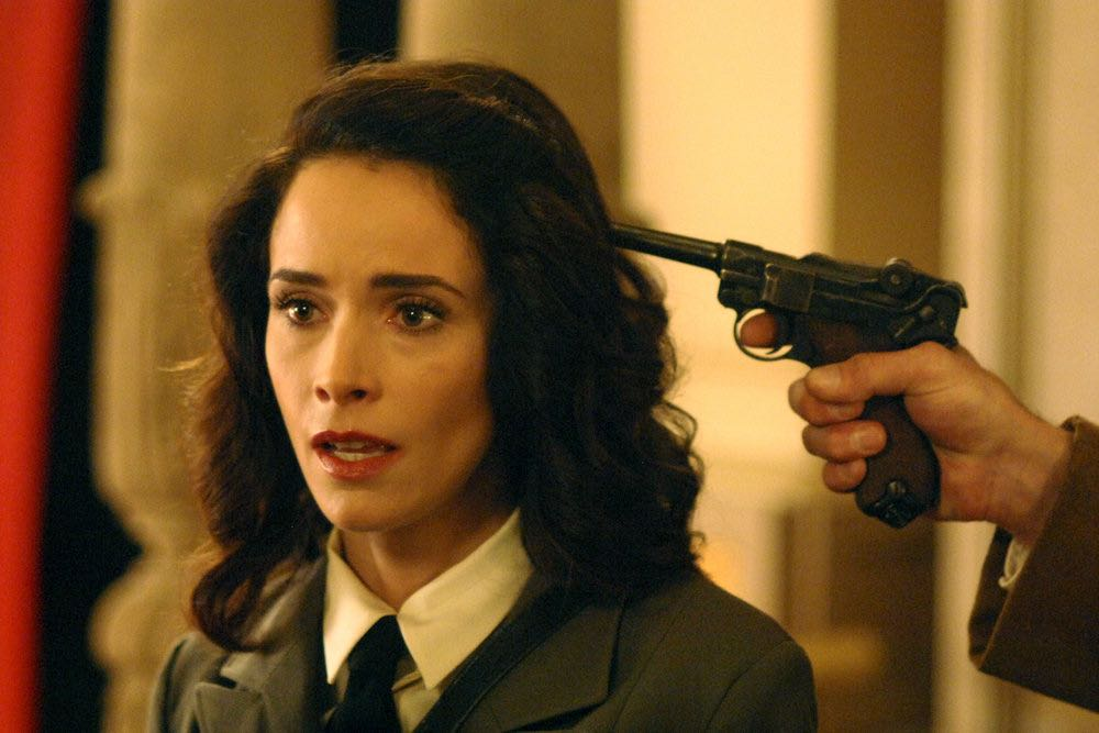 "TIMELESS -- ""Party At Castle Varlar"" Episode 103 -- Pictured: Abigail Spencer as Lucy Preston -- (Photo by: Sergei Bachlakov/NBC)"