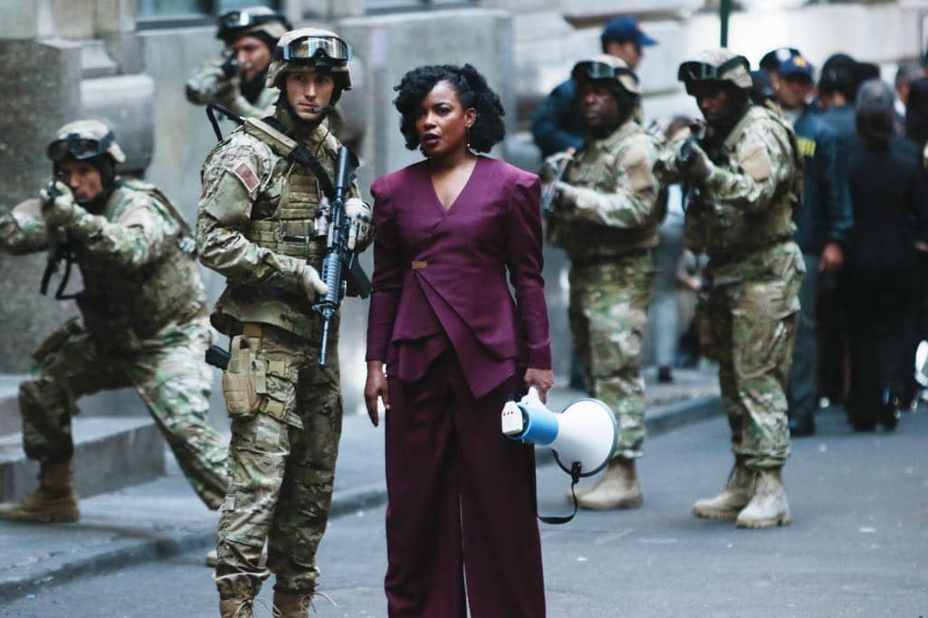 """QUANTICO - """"Kubark"""" - The trainees are put through a training drill that tests their stress levels while Alex tries to gather information and get close to Owen. Meanwhile, in the future, the terrorist organization demands a trade, a move that could possibly end the stand-off, on """"Quantico,"""" airing SUNDAY, OCTOBER 23 (10:00-11:00 p.m. EDT), on the ABC Television Network. (ABC/Giovanni Rufino) BENJAMIN JONES, AUNJANUE ELLIS"""