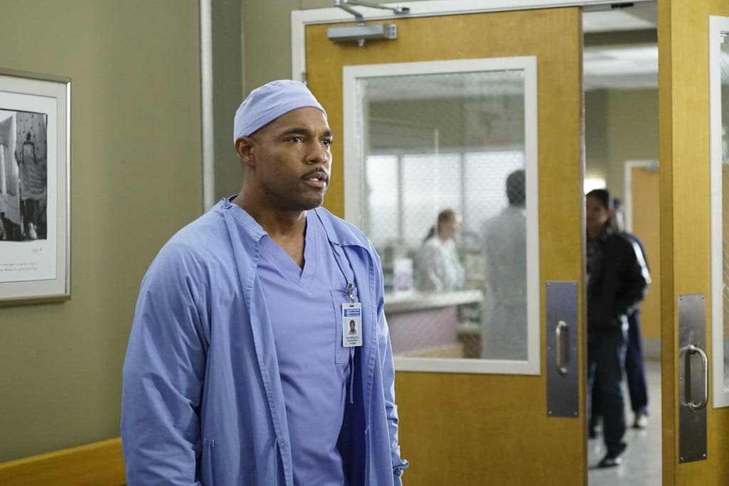 """GREY'S ANATOMY - """"Roar"""" - A familiar face returns to Grey Sloan, throwing many of the doctors for a loop. With Catherine putting on the pressure, Bailey has to make a decision about Alex while a tough ER case makes Amelia's bad day even worse, on """"Grey's Anatomy,"""" THURSDAY, OCTOBER 27 (8:00-9:00 p.m. EDT), on the ABC Television Network. (ABC/Jennifer Clasen) JASON GEORGE"""