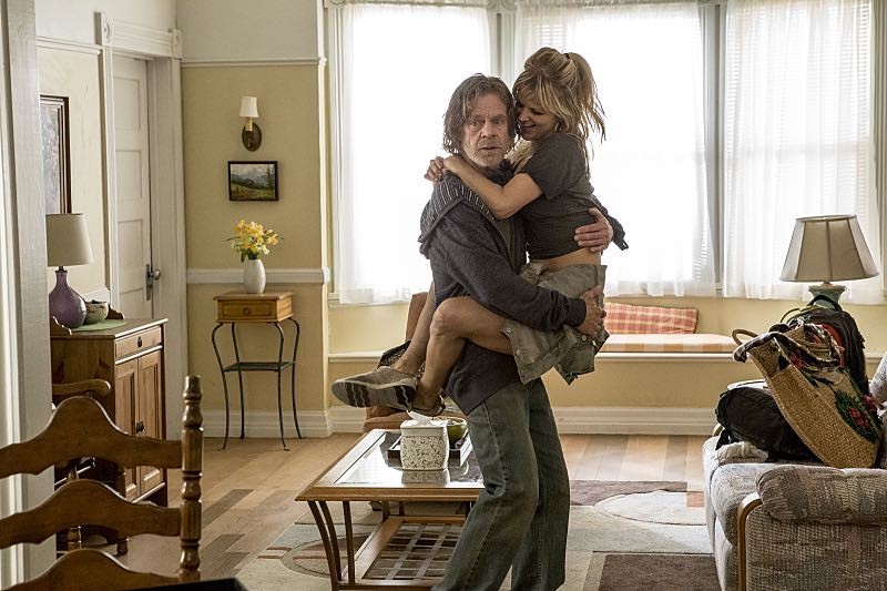 William H. Macy as Frank Gallagher and Arden Myrin as Delores in Shameless (Season 7, episode 3) - Photo: Paul Sarkis/SHOWTIME - Photo ID: shameless_703_3394