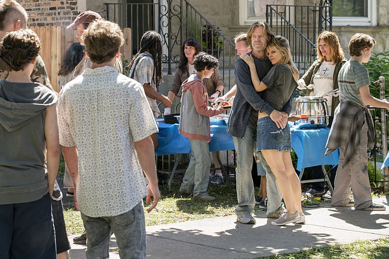 William H. Macy as Frank Gallagher and Arden Myrin as Delores in Shameless (Season 7, episode 3) - Photo: Chuck Hodes/SHOWTIME - Photo ID: shameless_703_c0314