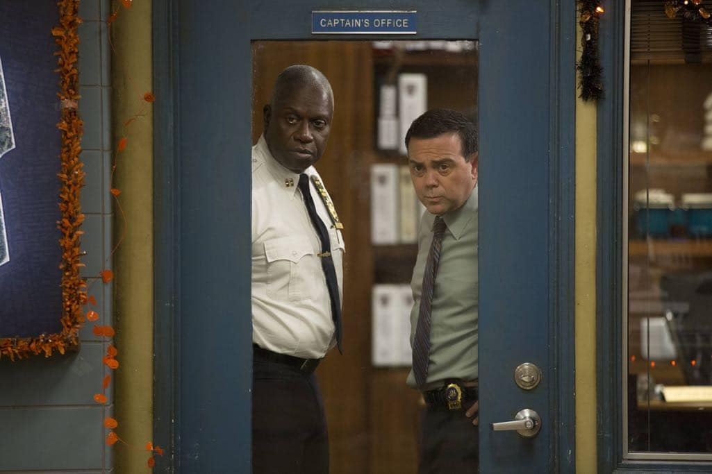 "BROOKLYN NINE-NINE: L-R: Andre Braugher and Joe Lo Truglio in the ""Halloween IV"" episode of BROOKLYN NINE-NINE airing Tuesday, Oct. 18 (8:00-8:31 PM ET/PT) on FOX. CR: John P Fleenor/FOX"