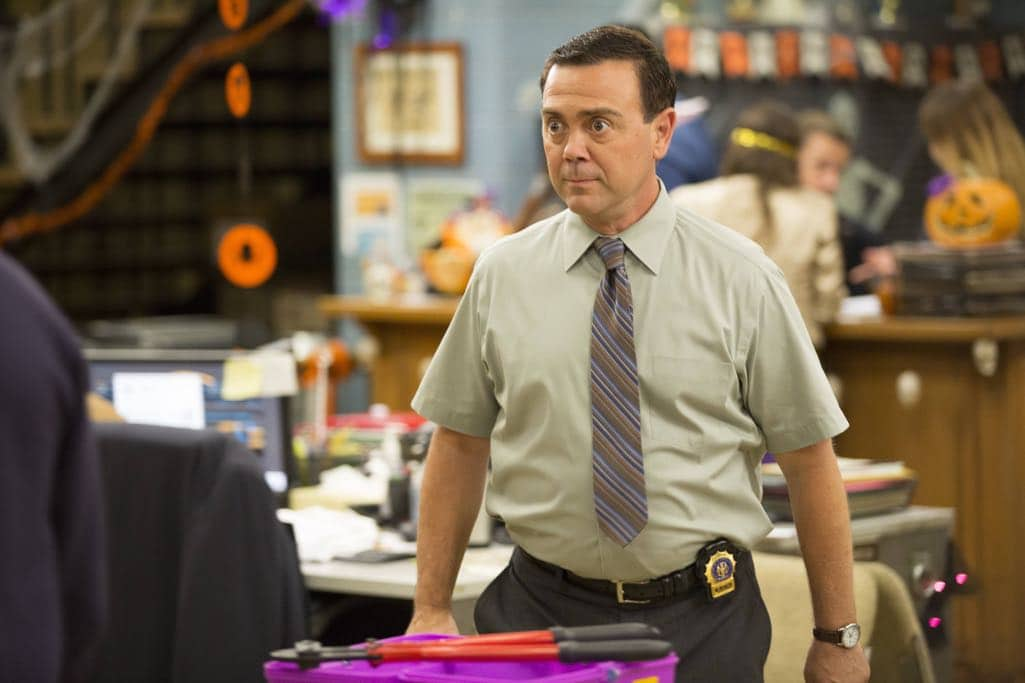"BROOKLYN NINE-NINE: Joe Lo Truglio in the ""Halloween IV"" episode of BROOKLYN NINE-NINE airing Tuesday, Oct. 18 (8:00-8:31 PM ET/PT) on FOX. CR: John P Fleenor/FOX"
