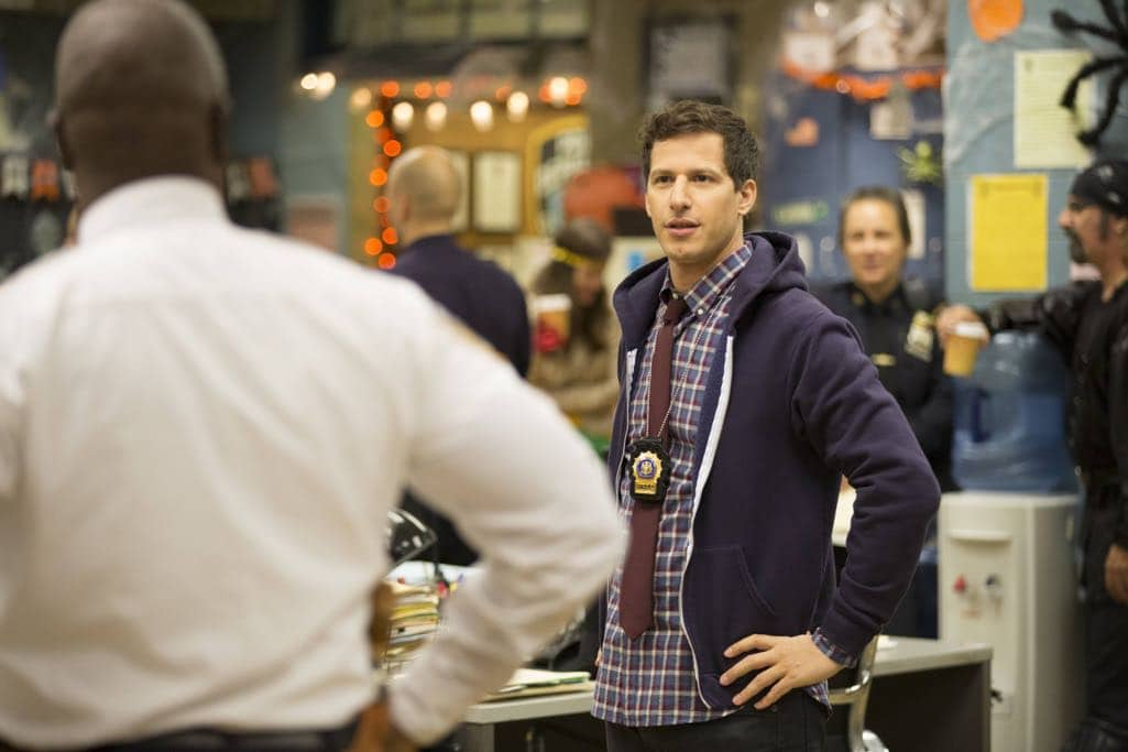 "BROOKLYN NINE-NINE: Andy Samberg in the ""Halloween IV"" episode of BROOKLYN NINE-NINE airing Tuesday, Oct. 18 (8:00-8:31 PM ET/PT) on FOX. CR: John P Fleenor/FOX"