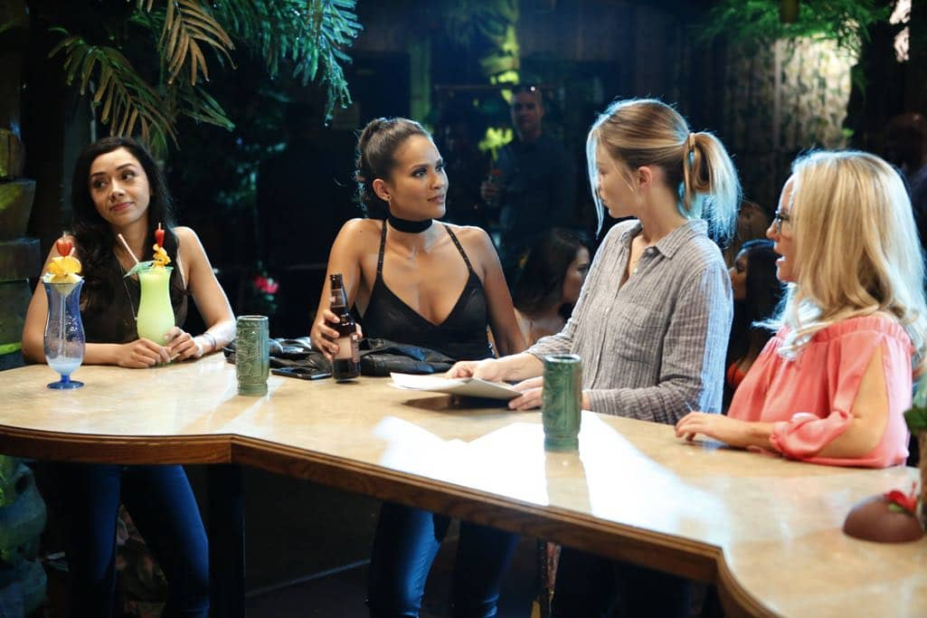 "LUCIFER: L-R: Aimee Garcia, Lesley-Ann Brandt, Lauren German and Rachael Harris in the ""Lady Parts"" episode of LUCIFER airing Monday, Oct. 17 (9:01-10:00 PM ET/PT) on FOX. ©2016 Fox Broadcasting Co. Cr: Bettina Strauss/FOX."