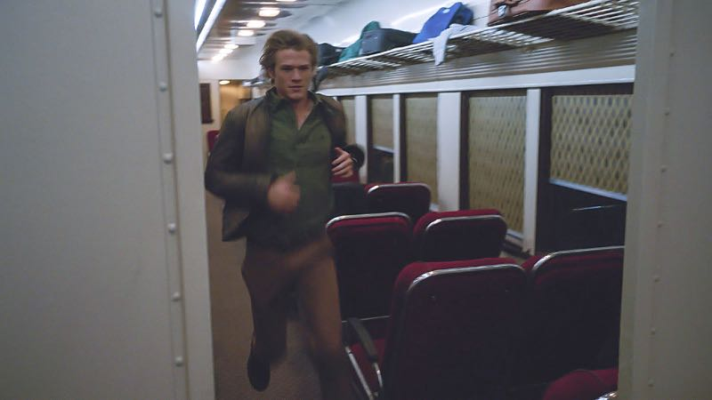 """""""Toothpick"""" -- Using only an armrest, a curtain rod and a toothpick, MacGyver must fix a sabotaged train in order to protect a whistleblower who has proof that her boss is selling weapons to U.S. enemies, on MACGYVER, Friday, Oct. 21 (8:00-9:00 PM, ET/PT) on the CBS Television Network. Pictured: Lucas Till. Photo: CBS ©2016 CBS Broadcasting, Inc. All Rights Reserved"""