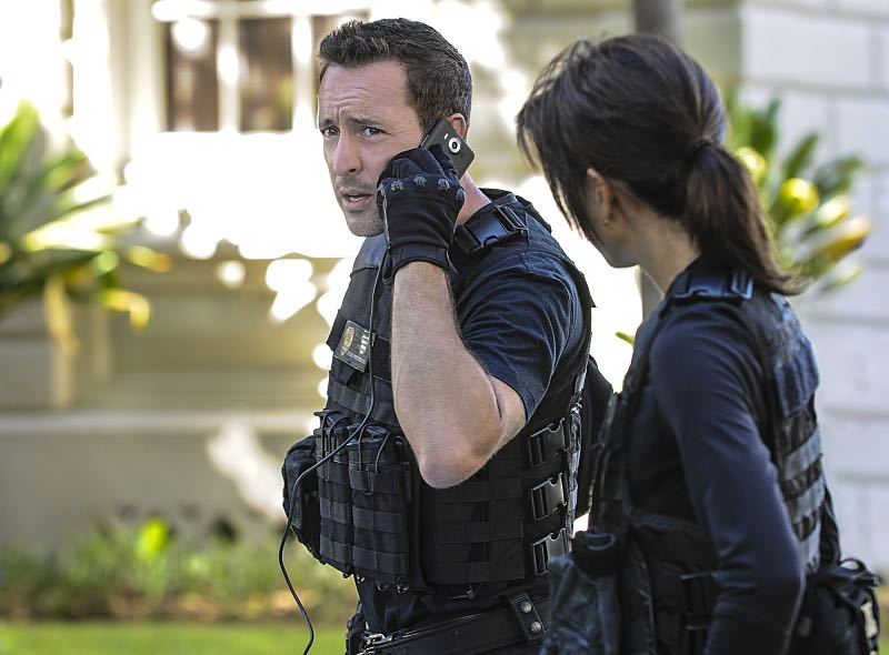 """""""Ke Kū 'Ana"""" -- When a cache of guns is stolen from a gun range, Five-0 discovers the culprit is intent on making a dramatic and potentially deadly statement on gun violence. Also, Kono and Adam are finally reunited when he is released from prison, on HAWAII FIVE-0, Friday, Oct. 21 (9:00-10:00 PM, ET/PT), on the CBS Television Network. (""""Ke Kū 'Ana"""" is Hawaiian for """"The Stand"""") Pictured: Alex O'Loughlin as Steve McGarrett. Photo: Norman Shapiro/CBS ©2016 CBS Broadcasting, Inc. All Rights Reserved"""