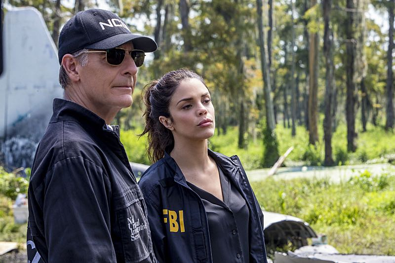 """Course Correction"" -- NCIS and FBI investigate a private plane crash in the bayou that killed three sailors. Also, Sonja and Lasalle interview candidates for the team's open agent position, on NCIS: New Orleans, Tuesday, Oct. 25 (10:00-11:00, ET/PT), on the CBS Television Network. Pictured L-R: Scott Bakula as Special Agent Dwayne Pride and Shalita Grant as Sonja Percy Photo: Skip Bolen/CBS ©2016 CBS Broadcasting, Inc. All Rights Reserved"