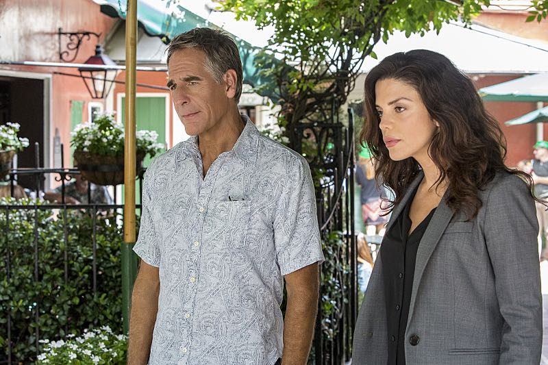 """Course Correction"" -- NCIS and FBI investigate a private plane crash in the bayou that killed three sailors. Also, Sonja and Lasalle interview candidates for the team's open agent position, on NCIS: New Orleans, Tuesday, Oct. 25 (10:00-11:00, ET/PT), on the CBS Television Network. Pictured L-R: Scott Bakula as Special Agent Dwayne Pride and Vanessa Ferlito as FBI Special Agent Tammy Gregorio Photo: Skip Bolen/CBS ©2016 CBS Broadcasting, Inc. All Rights Reserved"