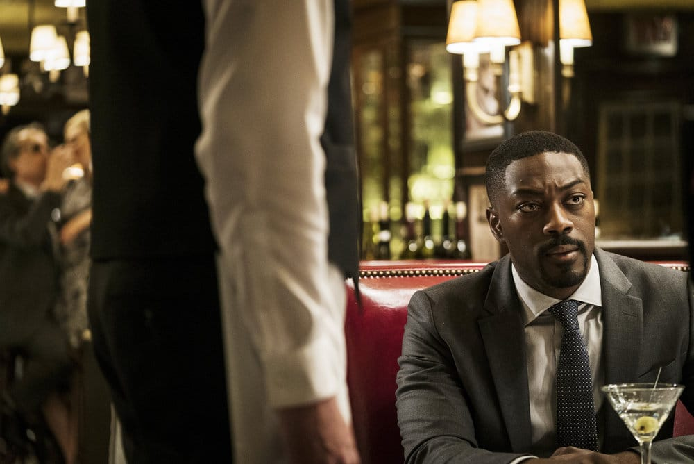 "FALLING WATER -- ""Calling the Vasty Deep"" Episode 102 -- Pictured: David Ajala as Burton -- (Photo by: Michael Parmalee/USA Network)"