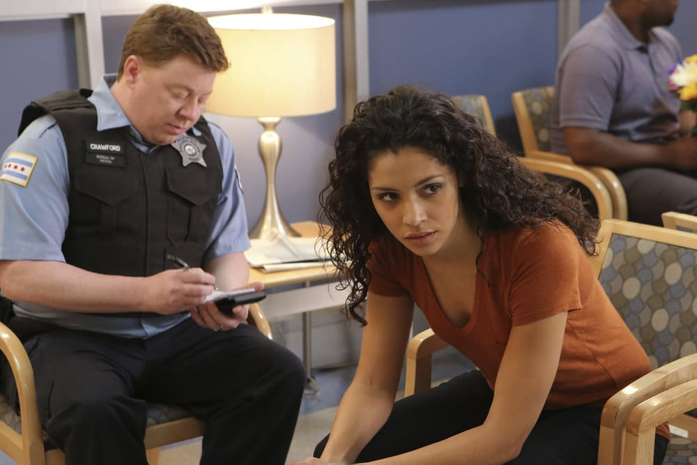 """CHICAGO FIRE -- """"A Real Wake-up Call"""" Episode 502 -- Pictured: Miranda Rae Mayo as Stella Kid -- (Photo by: Parrish Lewis/NBC)"""