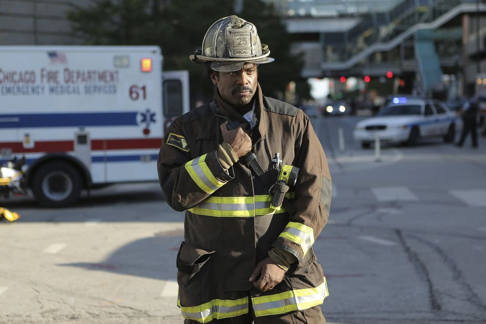 """CHICAGO FIRE -- """"A Real Wake-up Call"""" Episode 502 -- Pictured: Eamonn Walker as Wallace Boden -- (Photo by: Parrish Lewis/NBC)"""