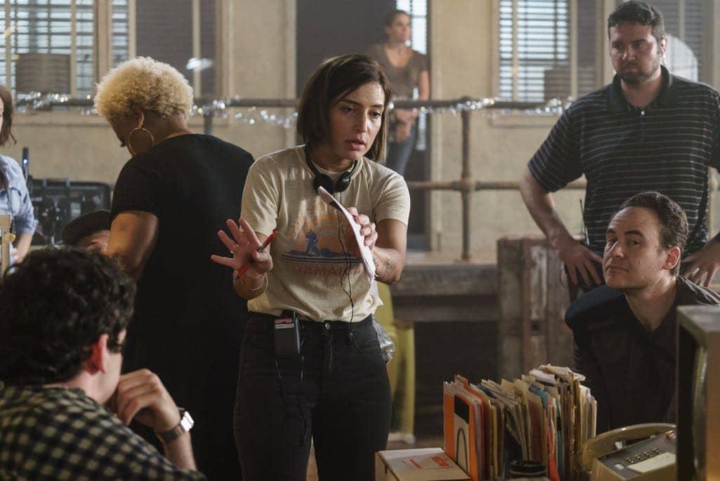 BTS, Director Reed Morano- Halt and Catch Fire _ Season 3, Episode 8 - Photo Credit: Tina Rowden/AMC