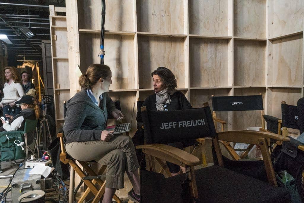 BTS, Executive Producer Melissa Bernstein - Halt and Catch Fire _ Season 3, Episode 3 - Photo Credit: Tina Rowden/AMC