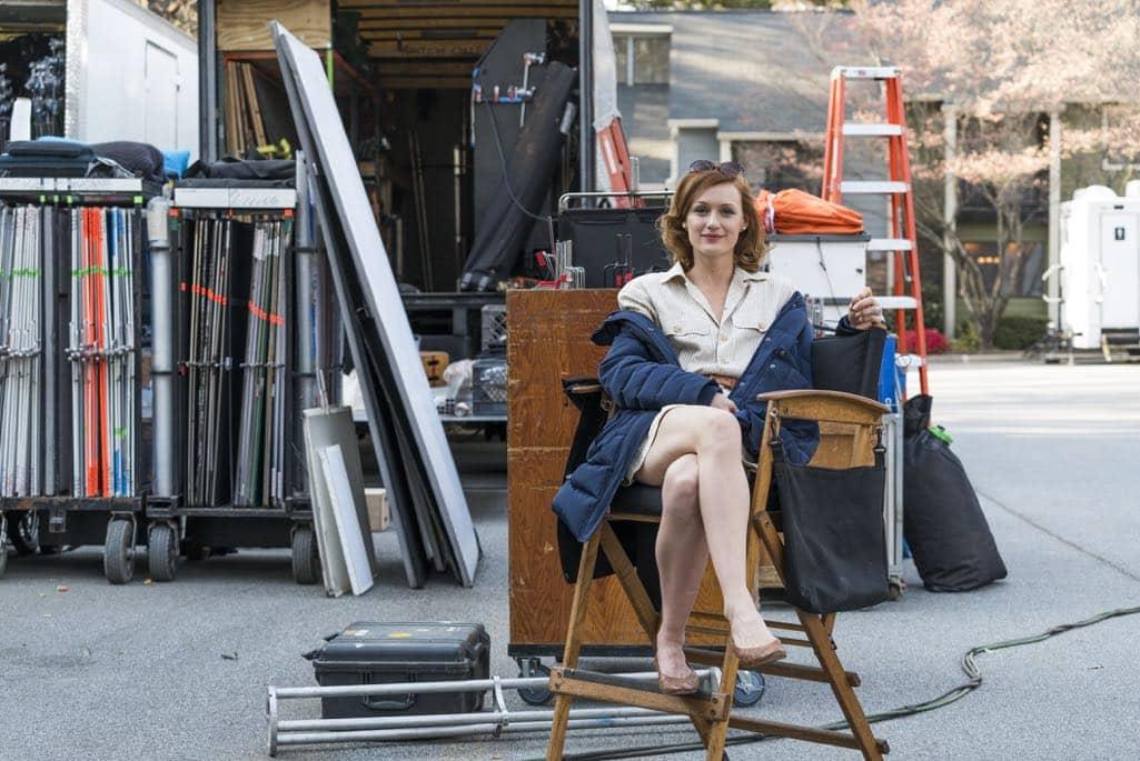 BTS, Kerry Bishe as Donna Clark- Halt and Catch Fire _ Season 3, Episode 2 - Photo Credit: Tina Rowden/AMC