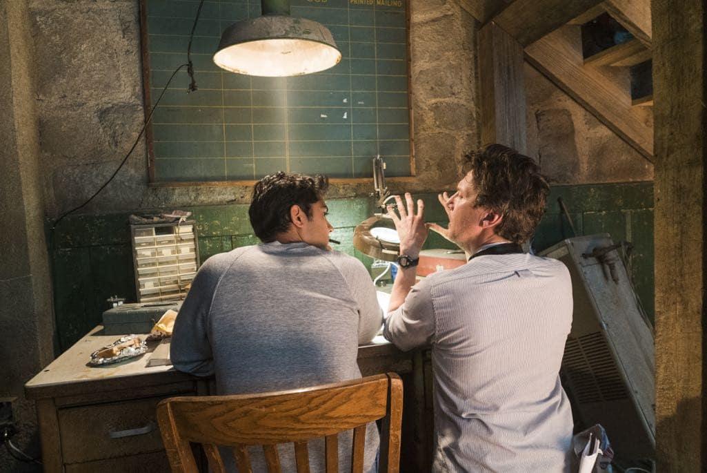 BTS, Manish Dayal as Ryan Ray, Director Andrew McCarthy - Halt and Catch Fire _ Season 3, Episode 1 - Photo Credit: Tina Rowden/AMC